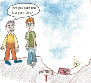 Cartoon drawn by Eva H. (age 12)