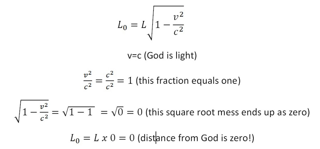 Calculating length from God